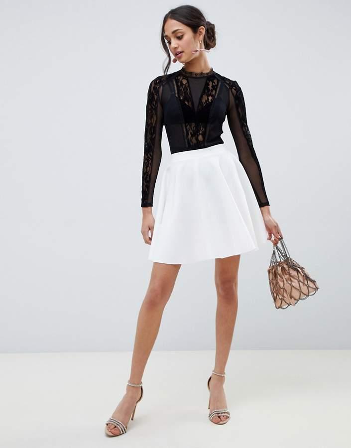 ASOS DESIGN full circle scuba mini skirt
