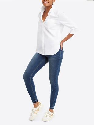 Spanx Distressed Skinny Jeans - Medium Wash