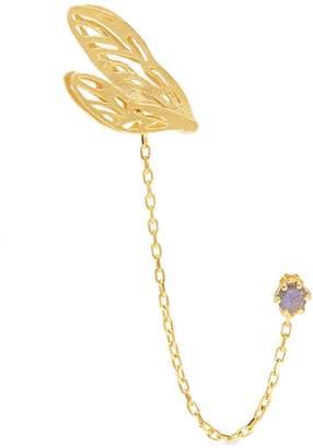 Alex Monroe 'Small Landed Dragonfly Wing' ear cuff link single stud earring