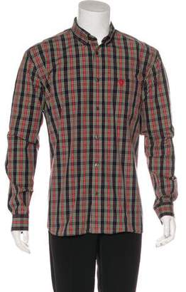 Fred Perry Woven Plaid Logo Shirt