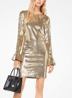 Michael Kors Sequined Bell-Cuff Dress