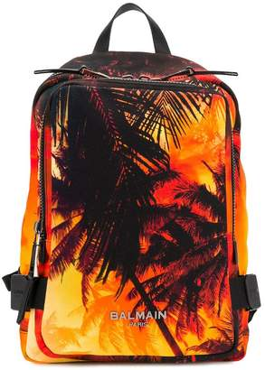 Balmain palm tree printed backpack