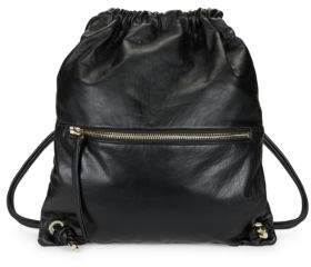 Vince Camuto Leather Drawstring Backpack