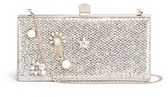 Jimmy Choo Jimmy Choo 'Celeste/S' interchangeable Swarovski crystal button glitter clutch