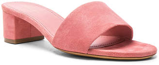 Mansur Gavriel Suede Single Strap Heels