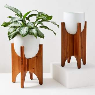 west elm Arches Standing Planters - White