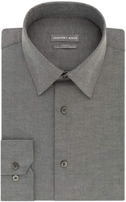 Geoffrey Beene Flex Collar Stretch Slim Fit Long Sleeve Yarn Dyed Woven Dress Shirt - Slim