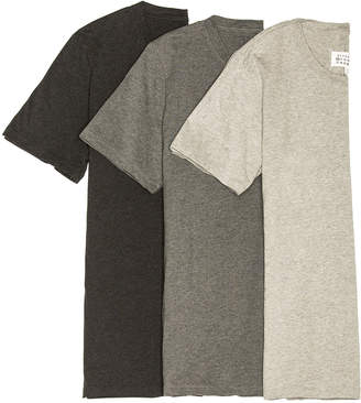 Maison Margiela Cotton Jersey Tee Shirt Pack in Silver & Carbon & Darkness | FWRD