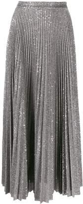 Dondup sequin-embellished midi skirt