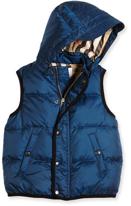 Burberry Carlton Puffer Vest, Ink Blue, Size 4-14 $265 thestylecure.com