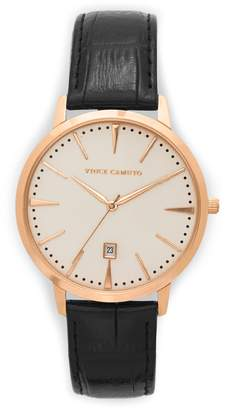 Vince Camuto Croc Embossed-band Watch