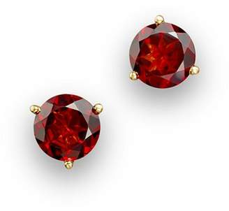 Bloomingdale's Garnet Round Stud Earrings in 14K Yellow Gold - 100% Exclusive