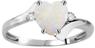 Stark Original Star K Heart Shape 6mm Genuine Opal bypass Ring 14kt Size 4.5