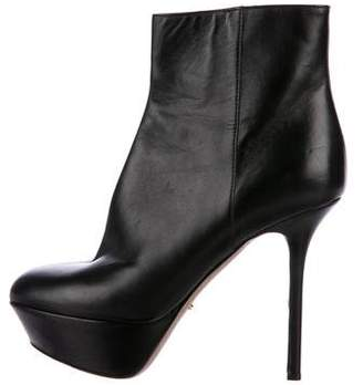 Sergio Rossi Platform Leather Ankle Boots