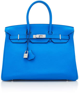 Hermes Vintage by Heritage Auctions 35cm Blue Zanzibar Togo Leather Birkin