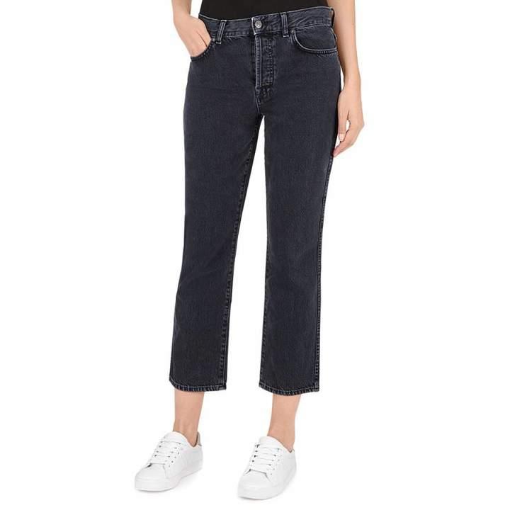 Black Edie Cropped Jeans