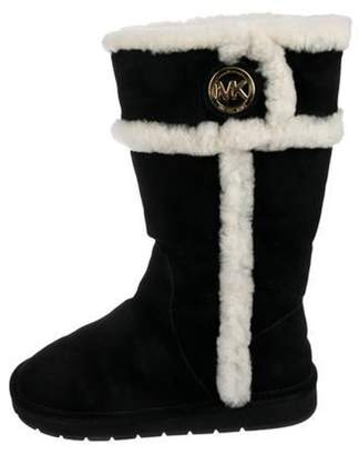 Michael Kors Suede Mid-Calf Boots Black Suede Mid-Calf Boots