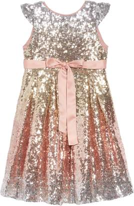 Wild & Gorgeous Sequin Fit & Flare Dress