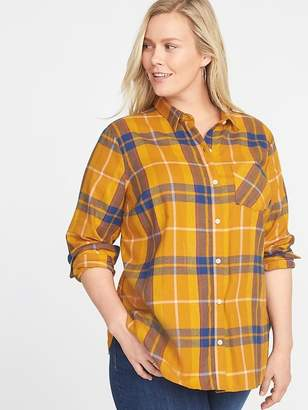 Old Navy Classic Plaid No-Peek Plus-Size Shirt