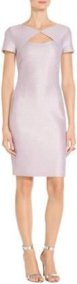 St. John Hansh Sequin Knit V-Back Dress