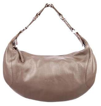 Longchamp Metallic Leather Hobo