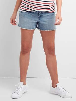 Gap Maternity Denim Shorts with Insert Panel