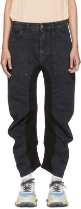 Stella McCartney Black Ruched Jeans