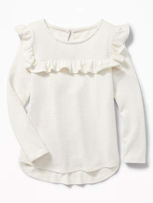 Old Navy Sweater-Knit Ruffled-Yoke Top for Girls