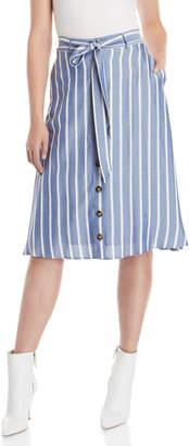 Lucy Paris Blue Sophie Stripe Skirt