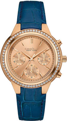 Bulova Caravelle By Caravelle New York Women's Rose Gold Leather Watch