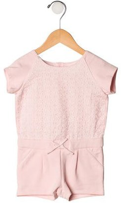 Chloé Girls' Short Sleeve Romper $45 thestylecure.com