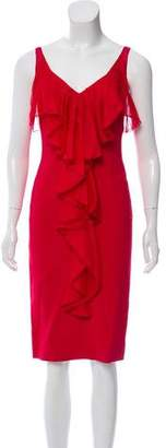 Valentino Silk Ruffle-Accented Dress w/ Tags