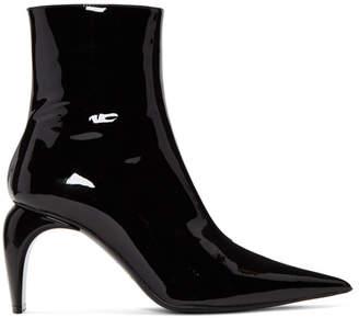 Misbhv Black Vinyl Ankle Boots