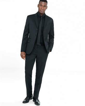 Express slim black wool blend twill suit pant