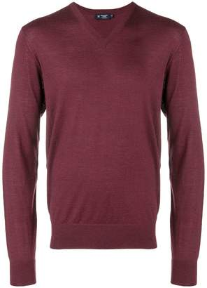 Hackett fine knit V-neck sweater