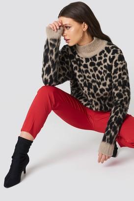 NA-KD Na Kd Oversized Leo Sweater beige/Black
