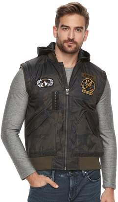 X-Ray Xray Men's XRAY Slim-Fit Hooded Military Vest
