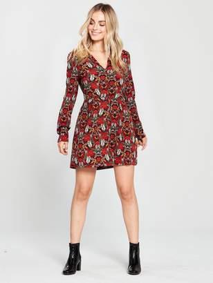0241a46ecbdd AX Paris Petite Petite Floral Printed Shirt Dress
