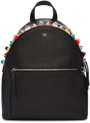 Fendi Black Studded Rainbow Backpack $2,450 thestylecure.com