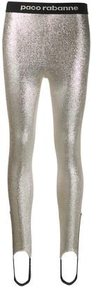Paco Rabanne glitter detail leggings