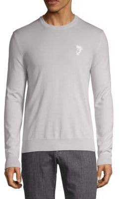 Versace Logo Wool Sweatshirt