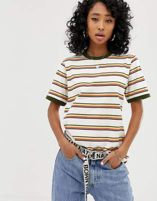 26e5e4d45a4 Dickies relaxed ringer t-shirt in retro stripe