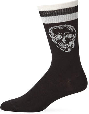 Alexander McQueen Men's Graffiti Skull Socks