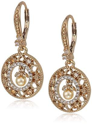 Marchesa Women's Tone/ Multi Small Round Drop Earrings