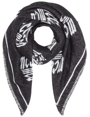 McQ Intarsia wool-blend scarf