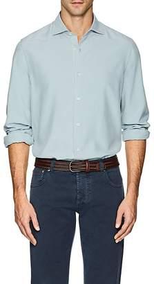 Loro Piana Men's Silk Slim Shirt