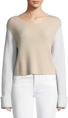 Vince Colorblock Cashmere Pullover Top