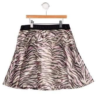 Kenzo Girls' Jacquard A-Line Skirt w/ Tags
