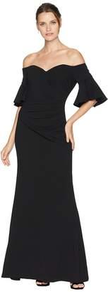 Calvin Klein Off Shoulder Short Sleeve Gown CD8B18PP Women's Dress