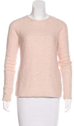Enza Costa Wool-Blend Textured Sweater